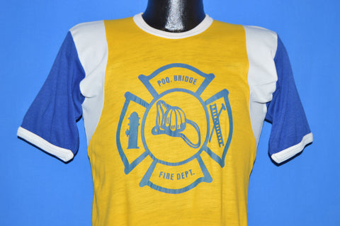 70s POQ. Bridge Fire Department Jersey t-shirt Small