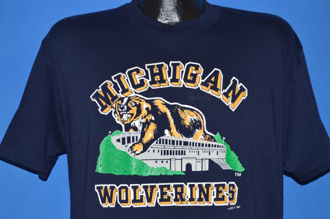 80s Michigan Wolverines College Football t-shirt Large