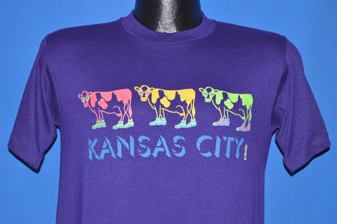 90s Kansas City Neon Cows Sunglasses t-shirt Medium
