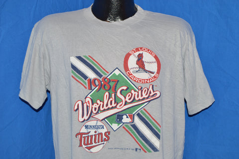 1987 Minnesota Twins St Louis Cardinals World Series t-shirt Large