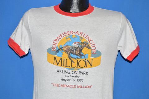 80s Budweiser Arlington Park 1985 t-shirt Medium