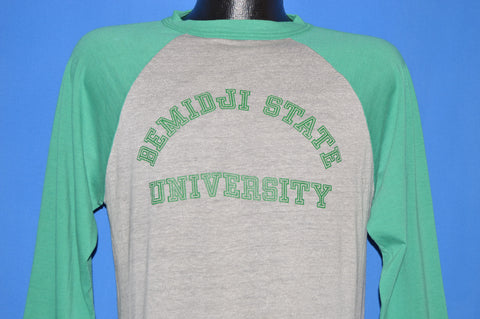 80s Bemiidji State University 3/4 Jersey t-shirt Medium