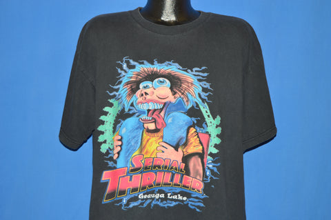 90s Serial Thriller Coaster Geauga Lake t-shirt Extra Large
