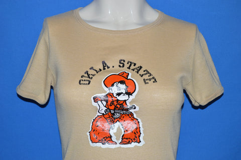70s Oklahoma State Cowboys Rib Knit t-shirt Women's Small