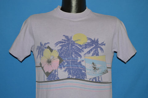 80s Ocean Paccific Hibiscus Sunset t-shirt Small