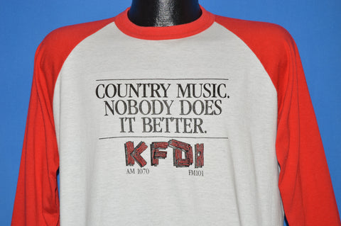 80s Nobody Does It Better Country KFDI t-shirt Large