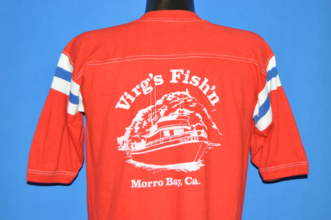 70s Virg's Fish'n Boat Morro Bay Jersey t-shirt Medium