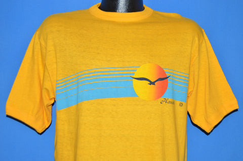 70s Hawaii Sunset Seagull Ringer t-shirt Large
