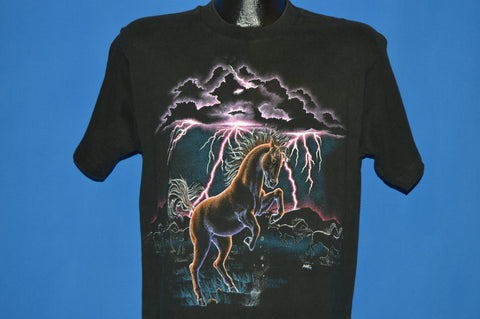 90s Horse Plains Lightning Neon t-shirt Medium