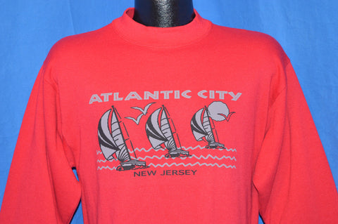 80s Atlantic City New Jersey Sailboat Sweatshirt Small