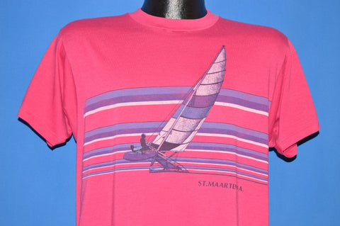 80s ST. Maarten Catamaran Sailing t-shirt Large