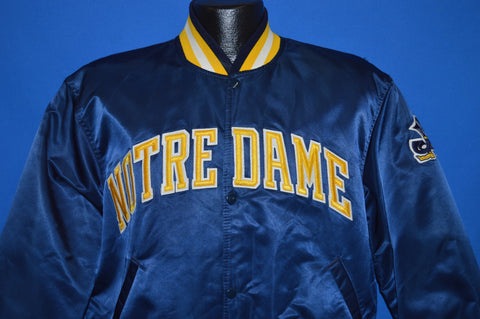 90s Notre Dame Fightin' Irish Satin Jacket Large