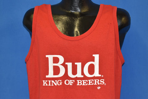 80s Bud Light King Of Beers Tank Top t-shirt Large