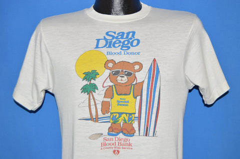 80s San Diego Blood Donor Bank t-shirt Small