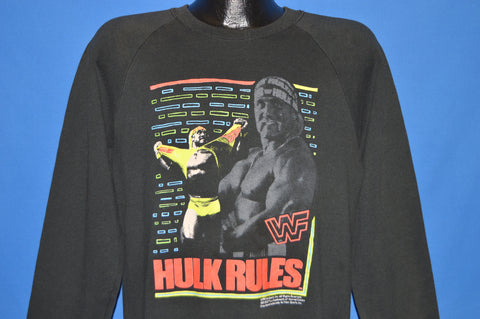 90s Hulk Hogan Rules Neon Sweatshirt Medium