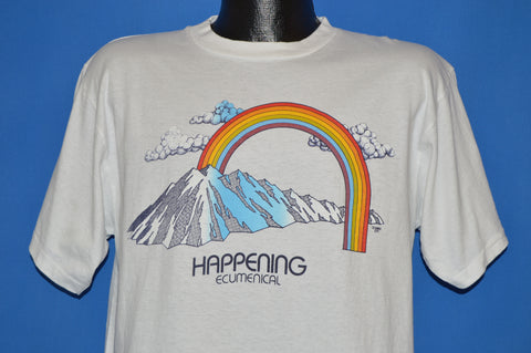 80s Happening Ecumenical Rainbow Mountain t-shirt Large