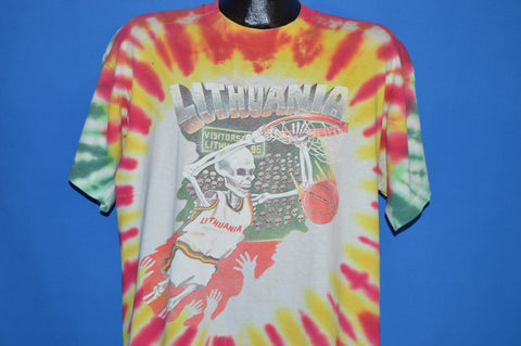 90s Grateful Dead Lithuania Basketball 1992 t-shirt Extra Large