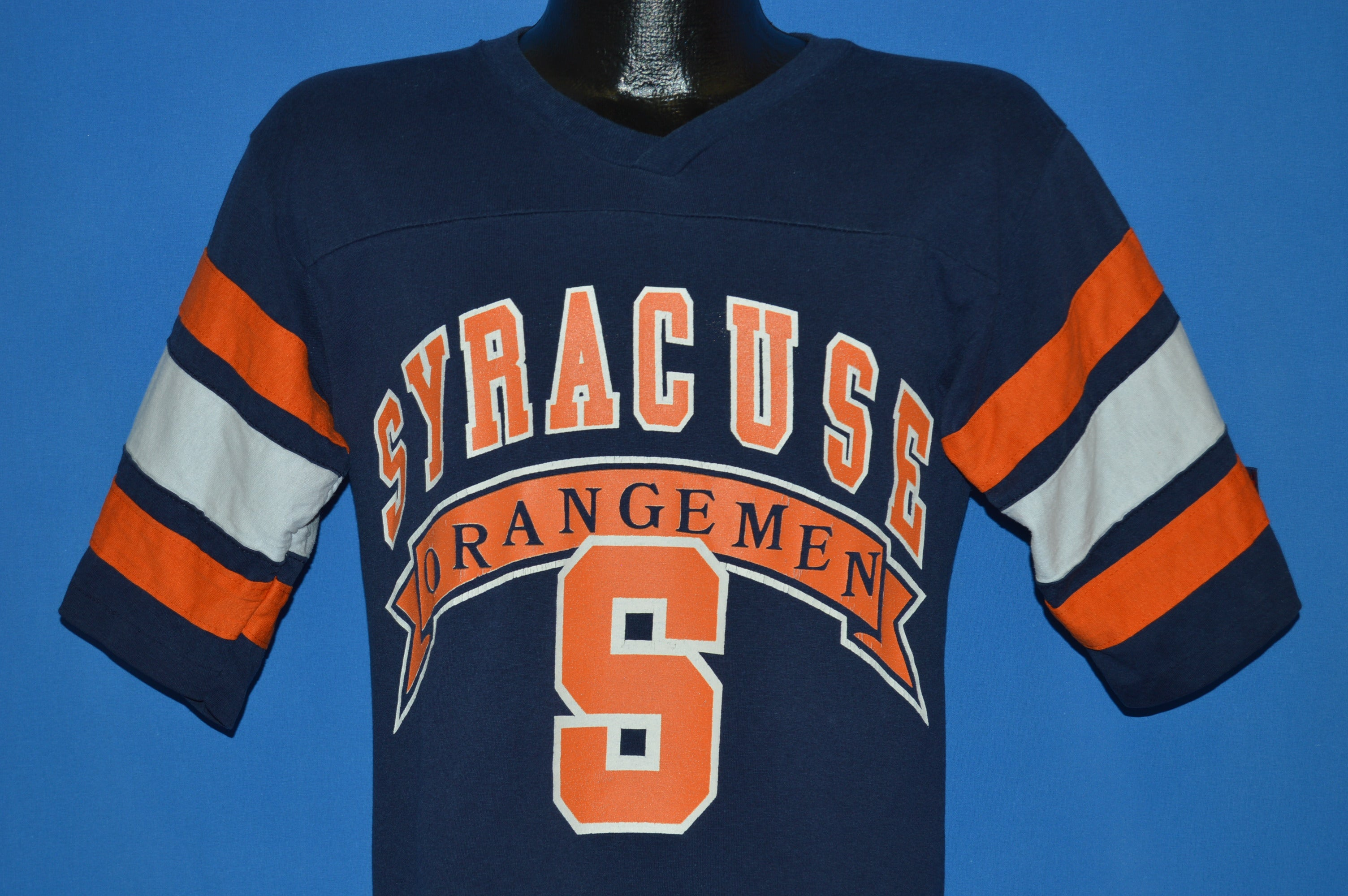 quality design 199a2 2509e 80s Syracuse Orangemen V-Neck Jersey t-shirt Small - The ...