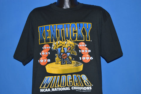 90s University Of Kentucky Wildcats 1996 Champs t-shirt Large