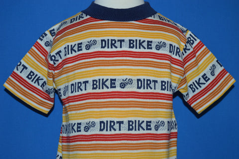 70s Dirt Bike Print Striped t-shirt Toddler 3/4