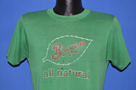 80s Breyers All Natural Ice Cream Distressed t-shirt Medium