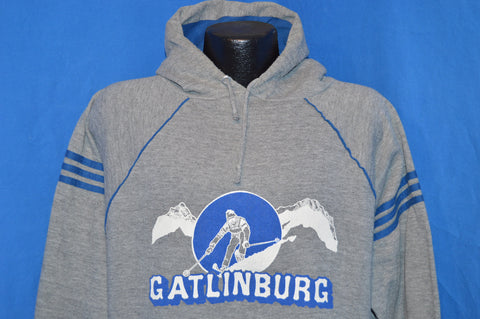 80s Gatlinburg Tennessee Ski Hooded Sweatshirt Large