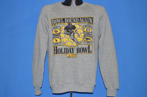 80s Iowa Hawkeyes Holiday Bowl 1986 Sweatshirt Medium