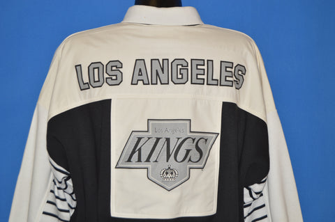 90s Los Angeles Kings NHL Rugby Collar Sweatshirt Large