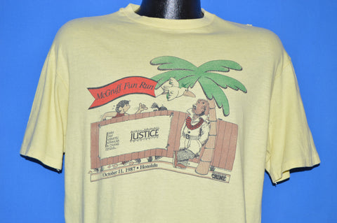 80s McGruff Crime Dog 1987 Hawaii Fun Run t-shirt Large