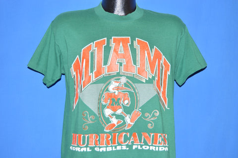 80s University Of Miami Hurricanes Football t-shirt Large