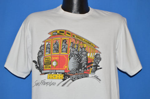 80s B Kliban Fat Cat San Francisco t-shirt Large