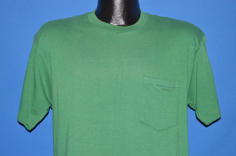 80s Green Blank Pocket t-shirt Large