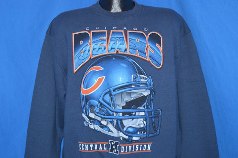 90s Chicago Bears Central Division Helmet Crewneck Sweatshirt Large