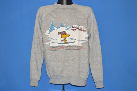 "80s Woodstock ""Where's The Chicks?"" Sweatshirt Extra Large"