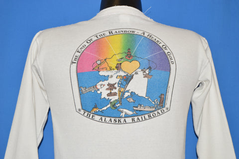 70s Alaska Railroad End Of The Rainbow t-shirt Medium