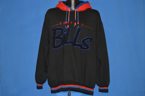 90s Buffalo Bills Starter Double Hood Sweatshirt Large