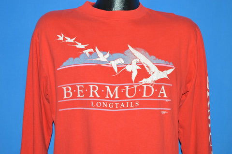 80s Bermuda Longtails Birds Long Sleeve t-shirt Large