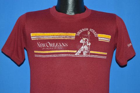 80s New Orleans Bourbon Street Distressed t-shirt Small
