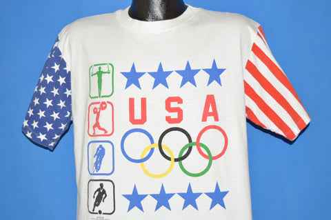 80s USA Olympics American Flag t-shirt Large