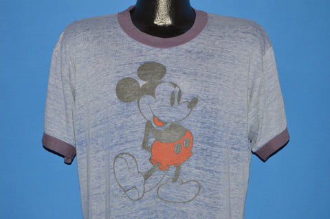 70s Mickey Mouse Distressed Ringer t-shirt Extra Large