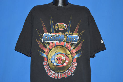 90s Chicago Bulls 1998 NBA Champs Starter t-shirt Extra Large