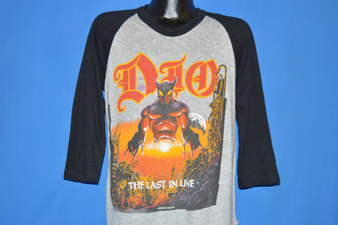 80s Dio The Last In Line 1984 Tour Jersey t-shirt Large