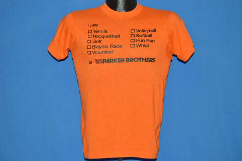70s Parker Brothers I Play Games t-shirt Small