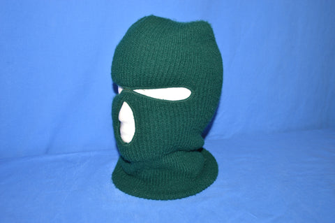 80s Green Knit Winter Ski Mask