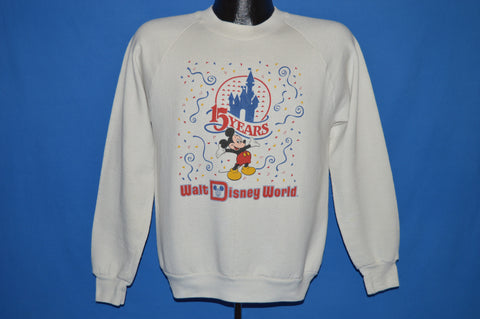 80s Disney World 15 Year Anniversary Sweatshirt Medium