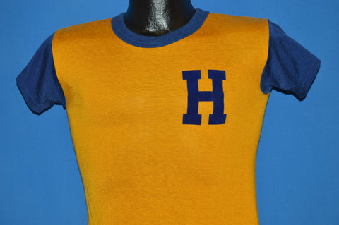 70s Yellow And Blue H #11 Jersey Youth Large