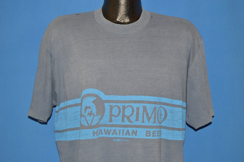 80s Primo Hawaiian Beer Logo t-shirt Extra Large
