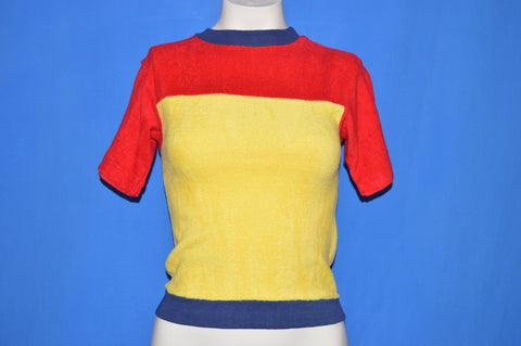 80s Allpro Super Knit Terrycloth t-shirt Youth Medium