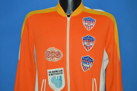 60s USFSA Figure Skating Track Jacket Small