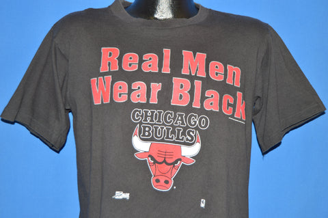 90s Chicago Bulls Real Men Wear Black t-shirt Medium